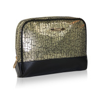 Black&gold cosmetic bag