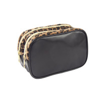 Black cosmetic bag with...