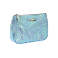 Cosmetic bag BLUE CROCCO Large