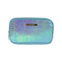 Cosmetic bag BLUE CROCCO Small