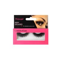 Black false eyelashes with...