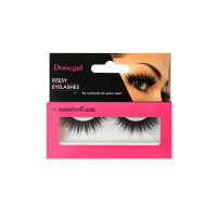 Black false eyelashes with...